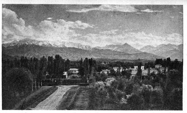 Вид города Верного (Алматы)
