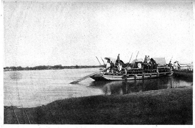 Переправа на пароме через реку Или