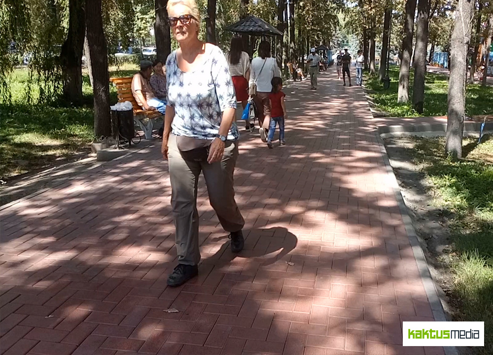 Эксперимент с тепловизором: какую температуру ощущают бишкекчане после вырубки деревьев