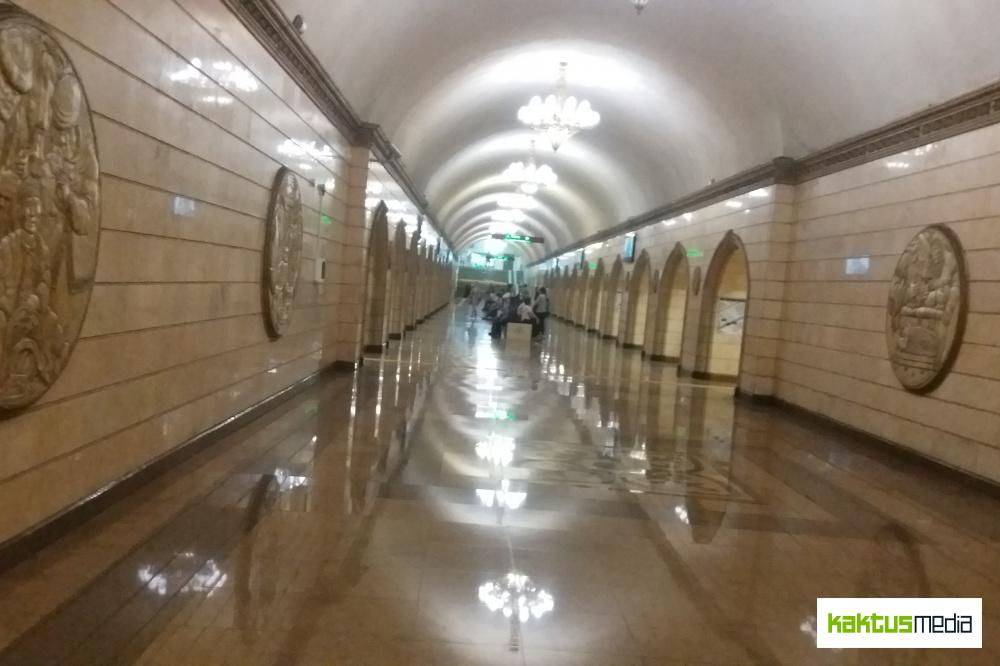 Станция метро в Алматы