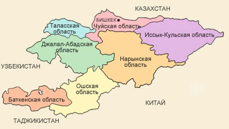 Картинка карта кыргызстана