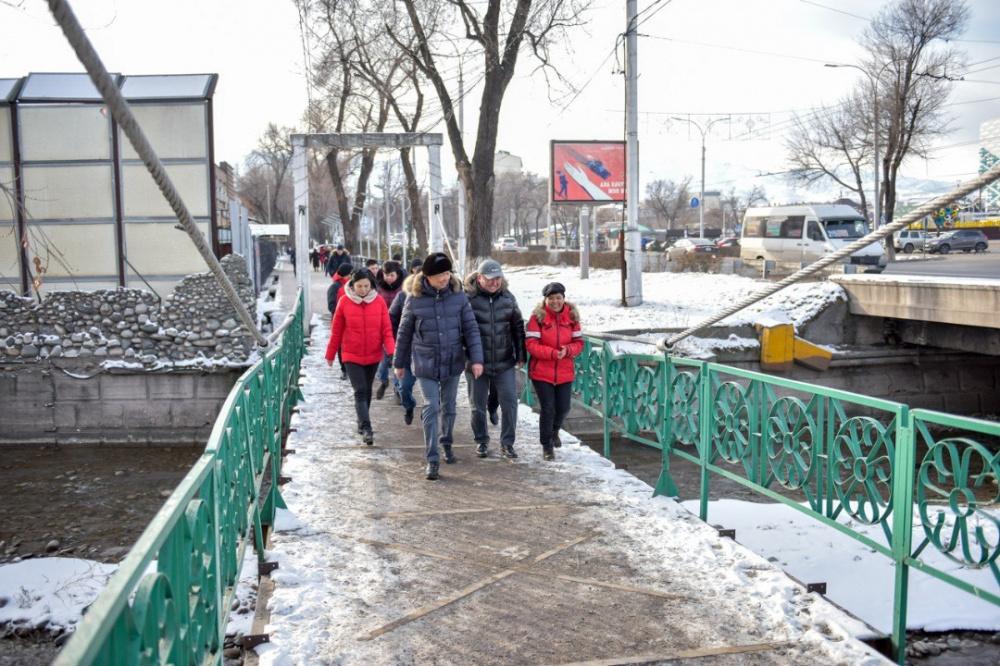 В центре Бишкека начнется масштабное строительство тротуаров и велодорожек