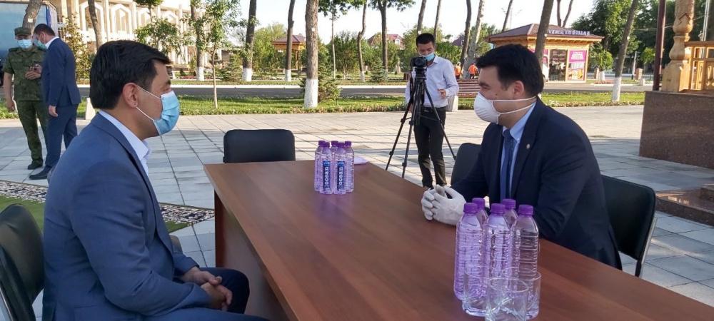 Кыргызстанская компания помогла продуктами пострадавшим от прорыва дамбы узбекистанцам