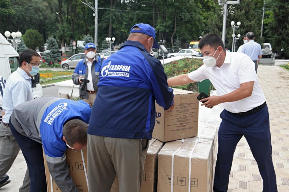 """Ошский филиал """"Газпром Кыргызстан"""" оказал помощь городским больницам. Фото"""