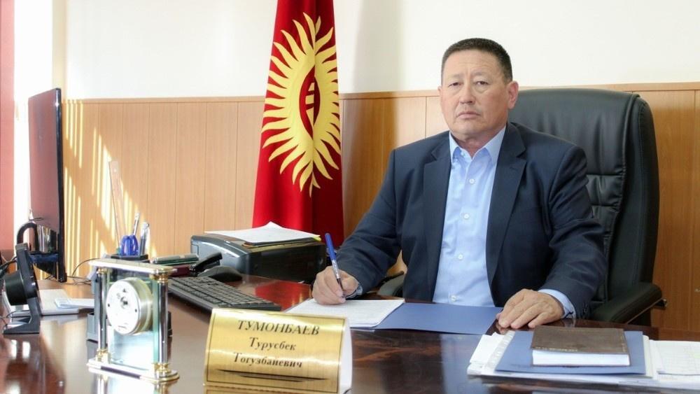 """Руководитель ГУ """"Унаа"""" Турусбек Тумонбаев. Он является сватом президента Садыра Жапарова."""